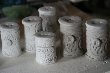 ClaySaltnPepperShakers