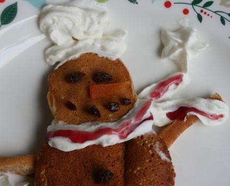 Snowman pancake2