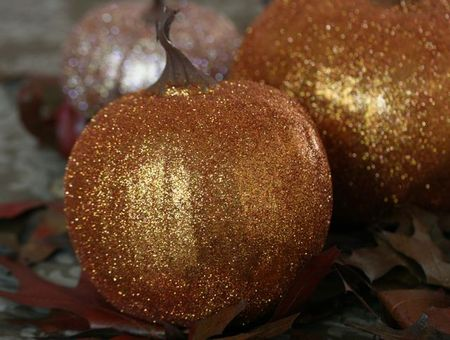 Glitter pumpkins-3