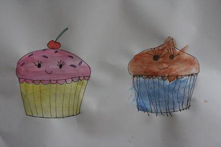 Cupcake painting-2