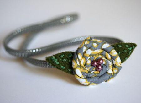 Flower headband example