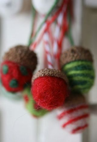 Needle felted acorn-1