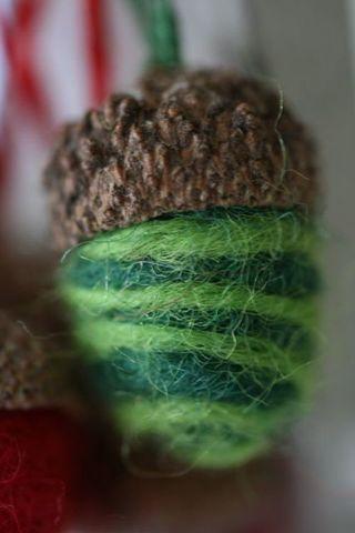 Needle felted acorn-2