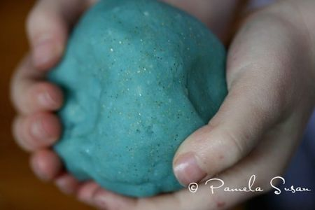 Blue day- blue play dough