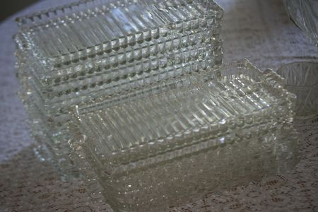 Baby shower glass plates