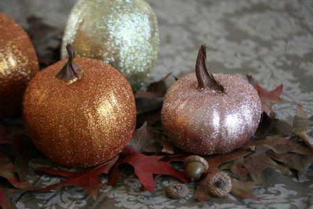Glitter pumpkins-6