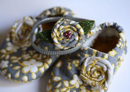 Fabric baby shoes:headband set