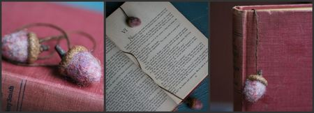 Acorn bookmark collage