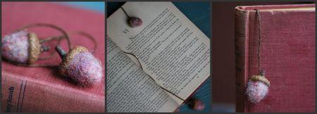 Acorn bookmark collage
