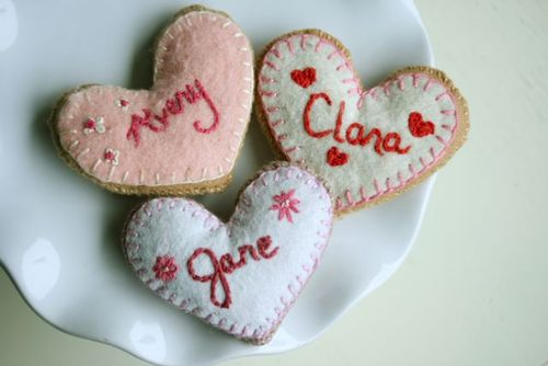Felt valentine cookie-4