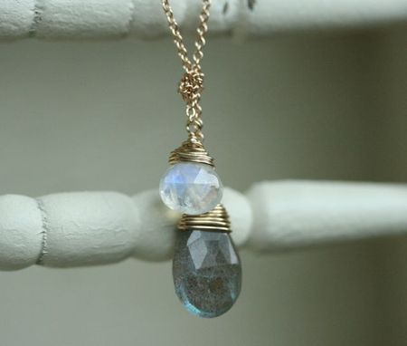 Knots and gems collection-moonstone labradorite-2