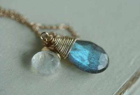 Knots and gems-moonstone labradorite-4