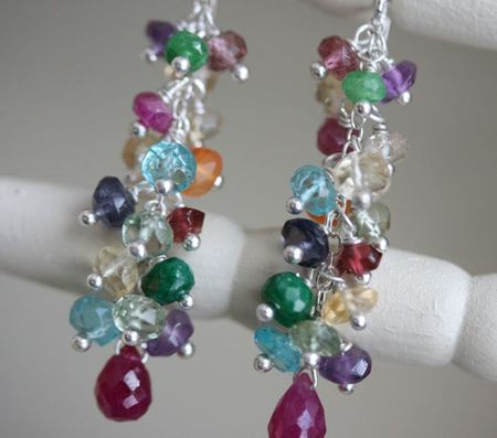 Jewelled bouquet earrings-2