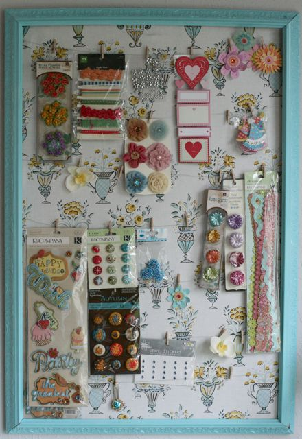 Craft organizer frame -2