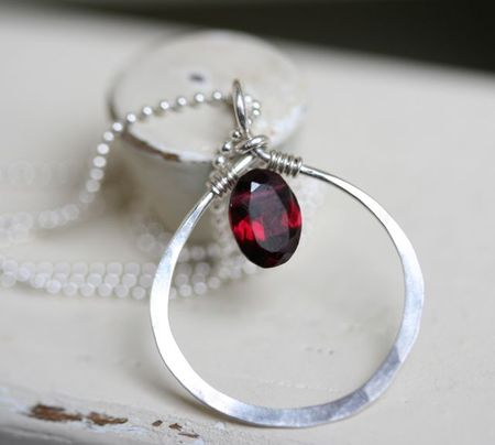 Garnet necklace-1