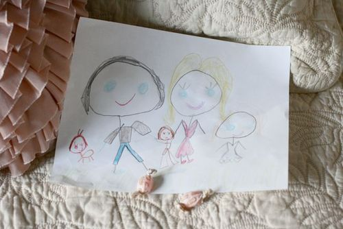 Avery's family drawing