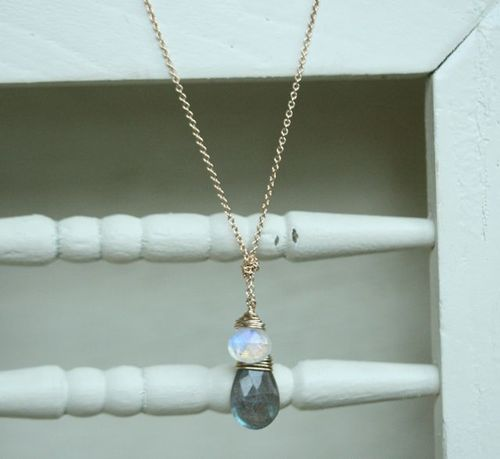 Knots and gems-moonstone labradorite-1