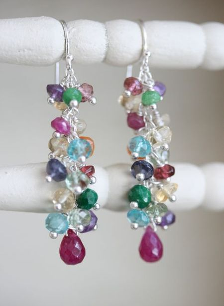 Jewelled bouquet earrings-3