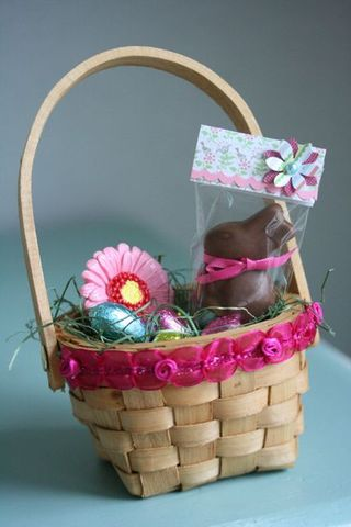 Chocolate lindt bunny basket-3