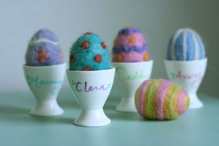 Felted Easter eggs Name holders-1