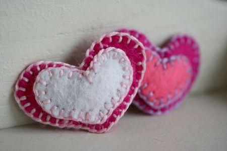 Felt heart hair clip-1