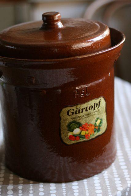 Saurkraut crock-1