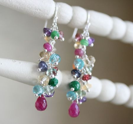 Jewelled bouquet earrings-1