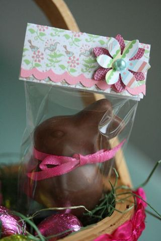 Chocolate lindt bunny basket-4