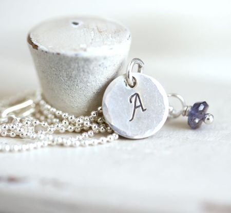 Graduation initial necklace