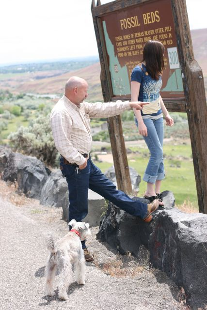 Fossil beds dad and holly 14