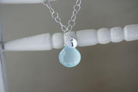 Initial gem circles necklace 2