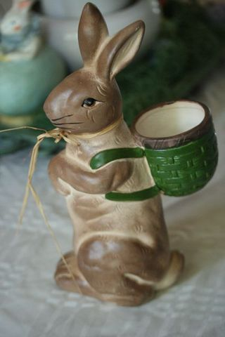 Ceramic easter bunny-1