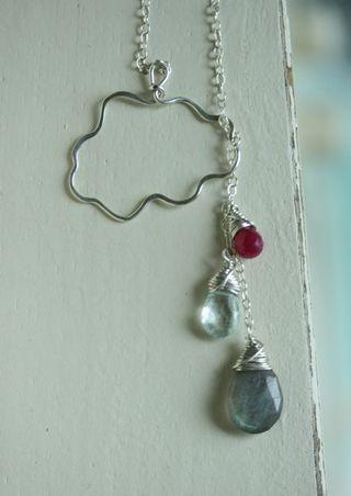 Drip Drops Labradorite:Ruby:Aquamarine-1