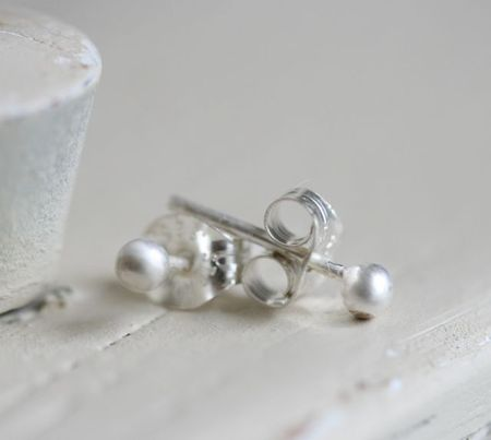 Ball posts sterling silver-1