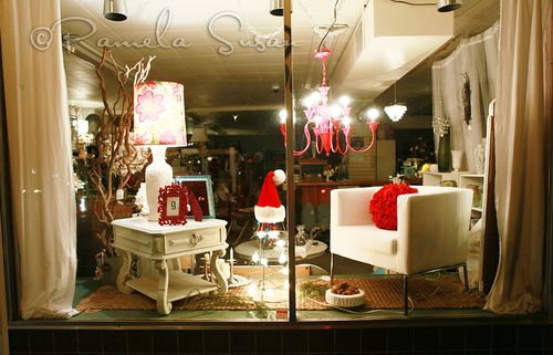 Avey's christmas window display