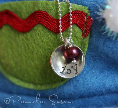 Joy necklace and elf