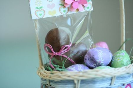Easter basket chocolate chick