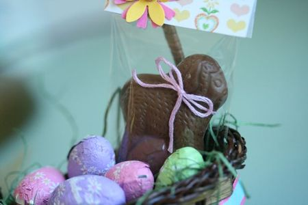 Easter basket chocolate lamb