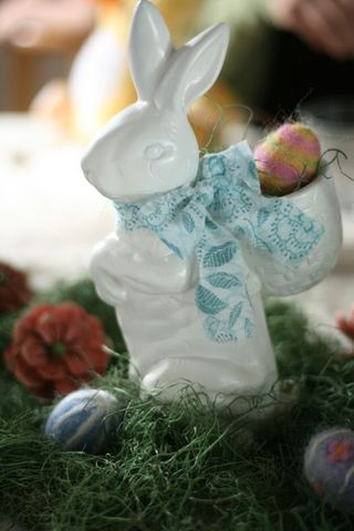 Ceramic easter bunny-2