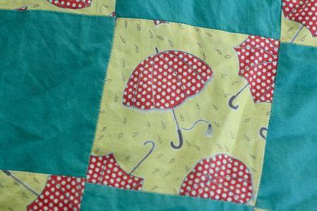 Umbrella apron close up