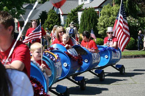 Train at fourth of july parade