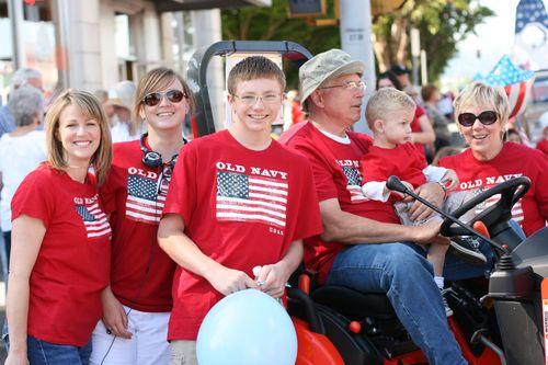 Avey's family at fourth of july parade