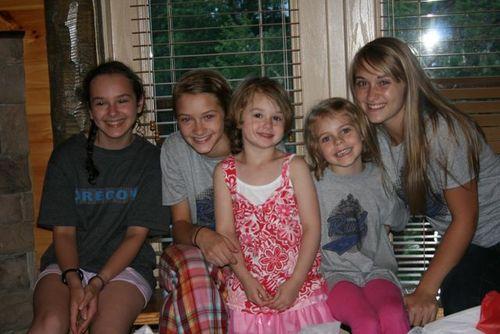 Smokies cabin girls