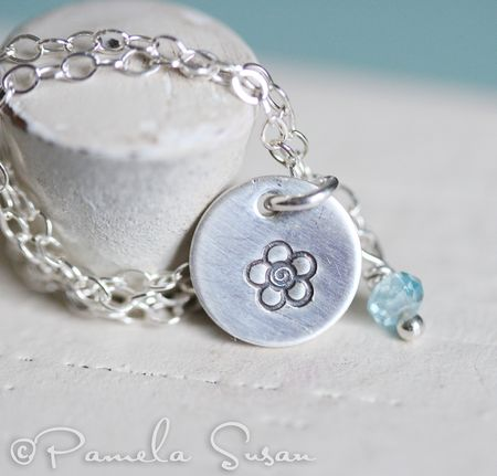 Forget me no necklace