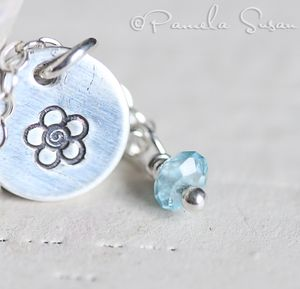 Forget me not necklace-2