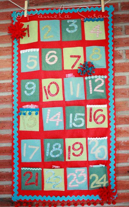 Advent calendar felt