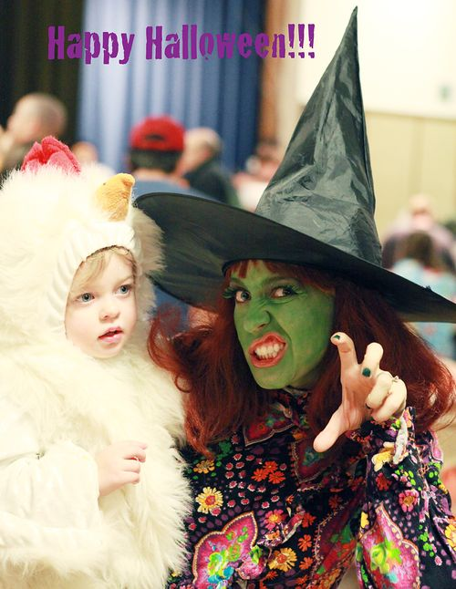 Halloween witch-happy halloween