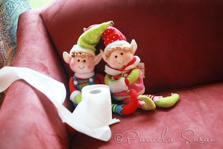 Elves with toilet paper
