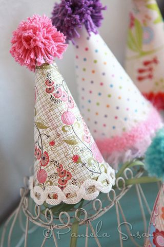 Party-hat-paper-pink-green-pamela-susan