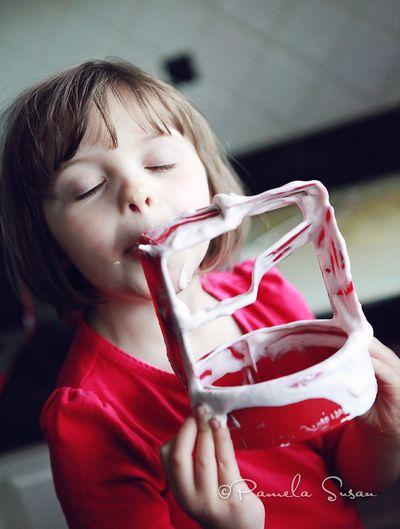 Strawberry-ice-cream-homemade-licking